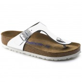 1003674 GIZEH metallic silver LEATHER SOFT FOOTBED